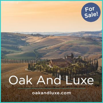 Name For Sale - OakAndLuxe.com