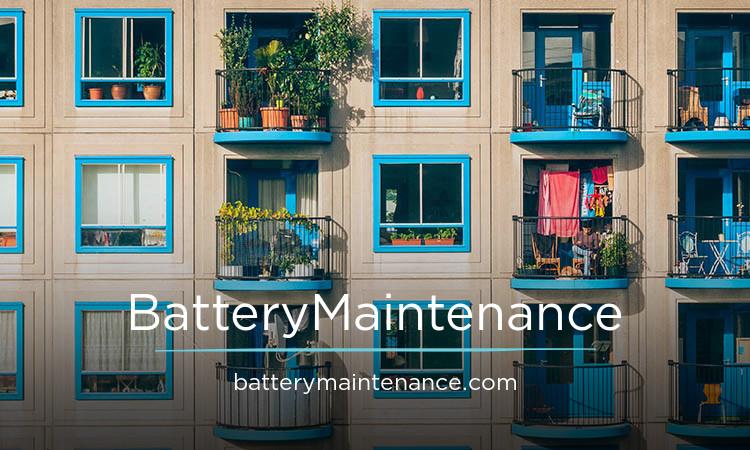 BatteryMaintenance.com