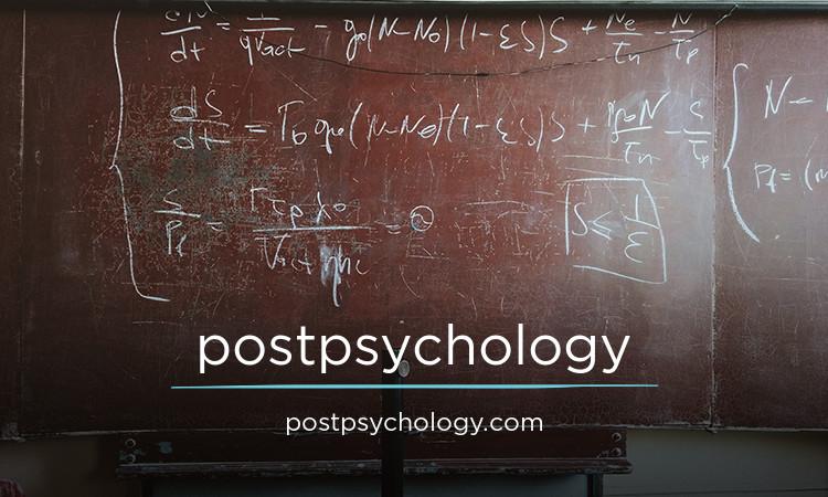 postpsychology.com